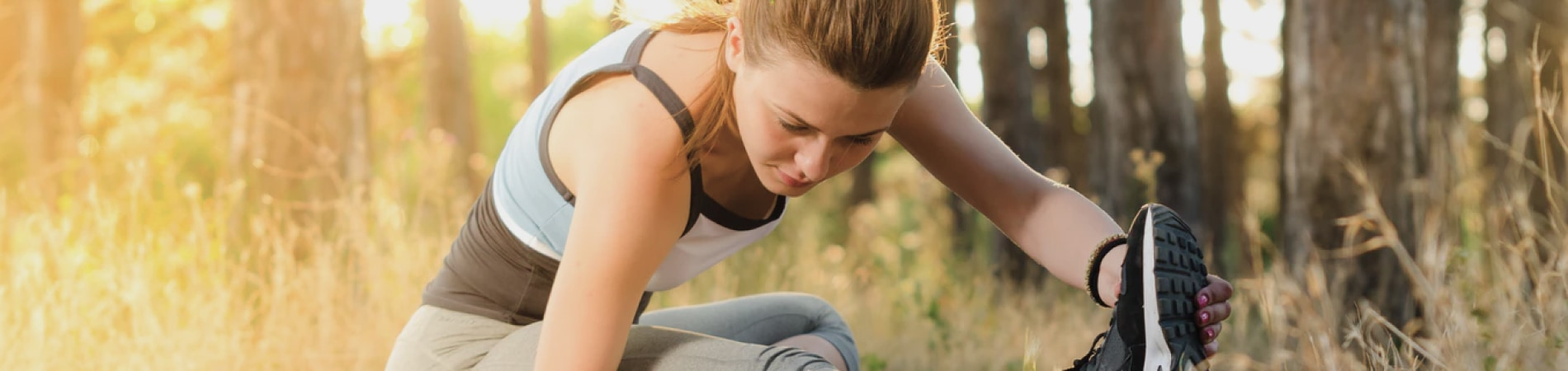 Woman stretching for wellbeing